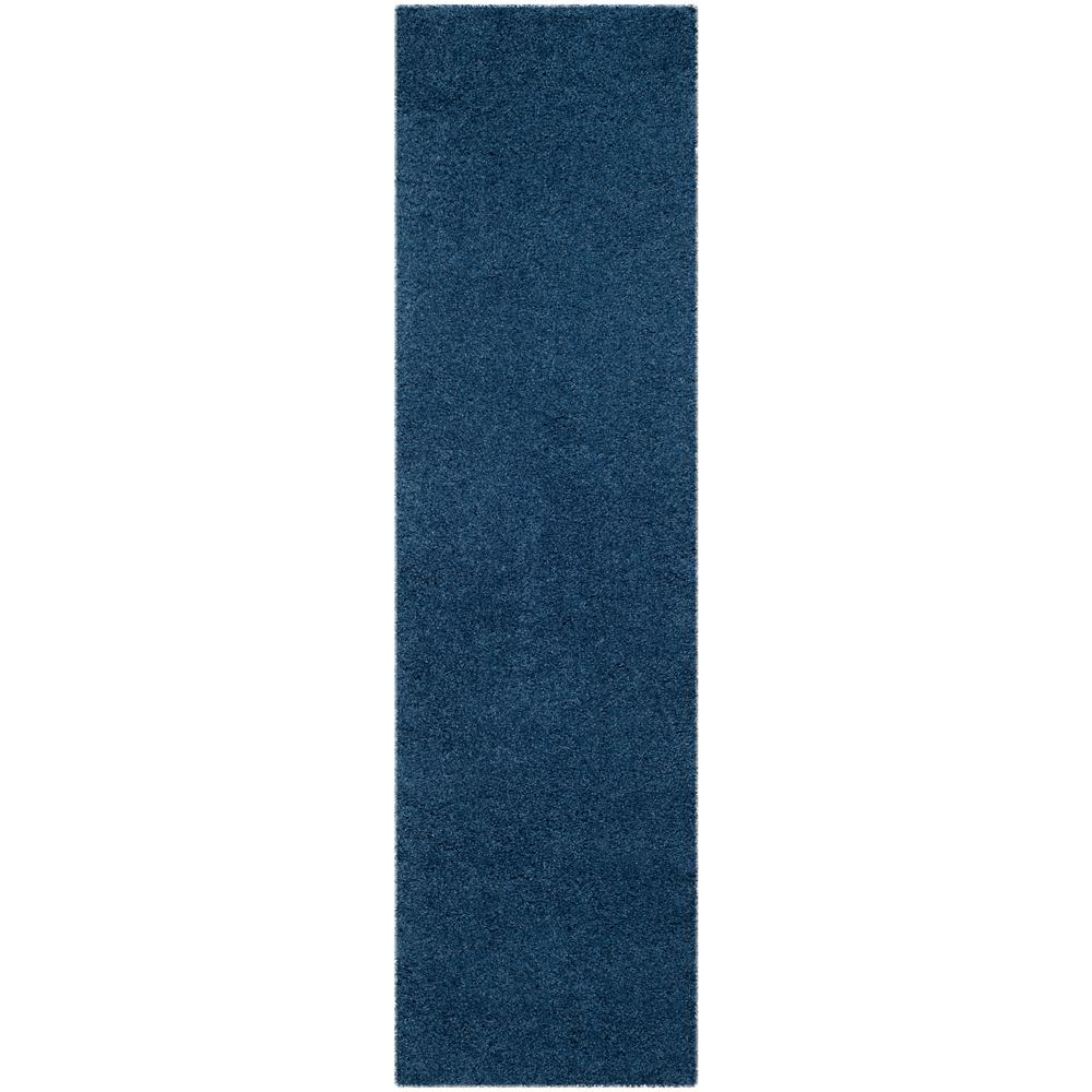 Safavieh Laguna Shag Blue 2 ft. 3 in. x 6 ft. Runner Rug