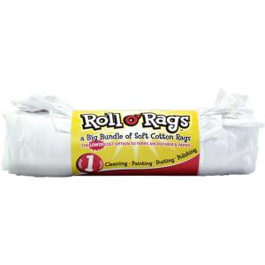 1 lb. Roll of White Knit Rags