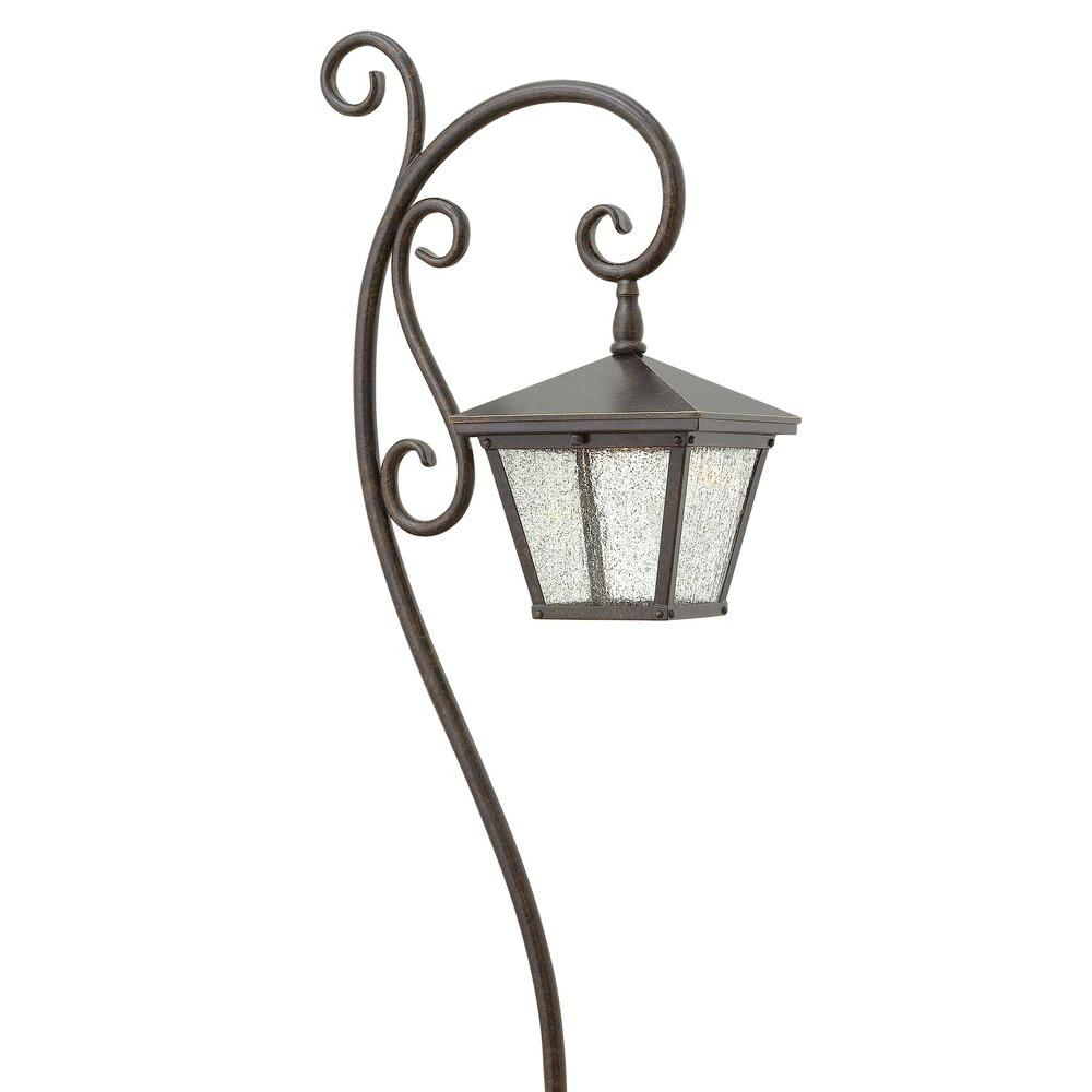Low-Voltage 18-Watt Regency Bronze Cast Aluminum Trellis Path Light