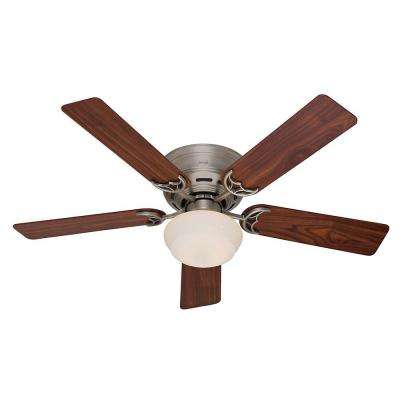 Low Profile III Plus 52 in. Indoor Antique Pewter Ceiling Fan with Light Kit
