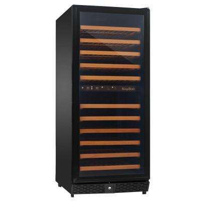 24 in. 120-Bottle Dual Zone Wine Cooler in Black