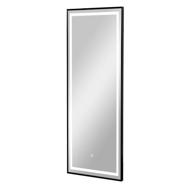 64 in. x 21 in. Modern Rectangle Metal Framed Full Length LED Mirror With Lights Vanity Mirror