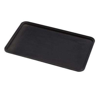 32.5 cm x 53 cm Rectangle Griptite Tray in Black (Case of 12)