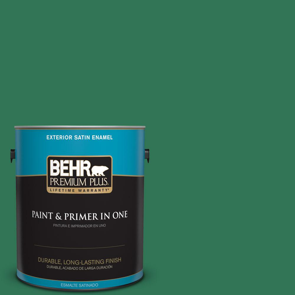 BEHR Premium Plus 1-gal. #P420-7 Crown Jewel Satin Enamel Exterior Paint