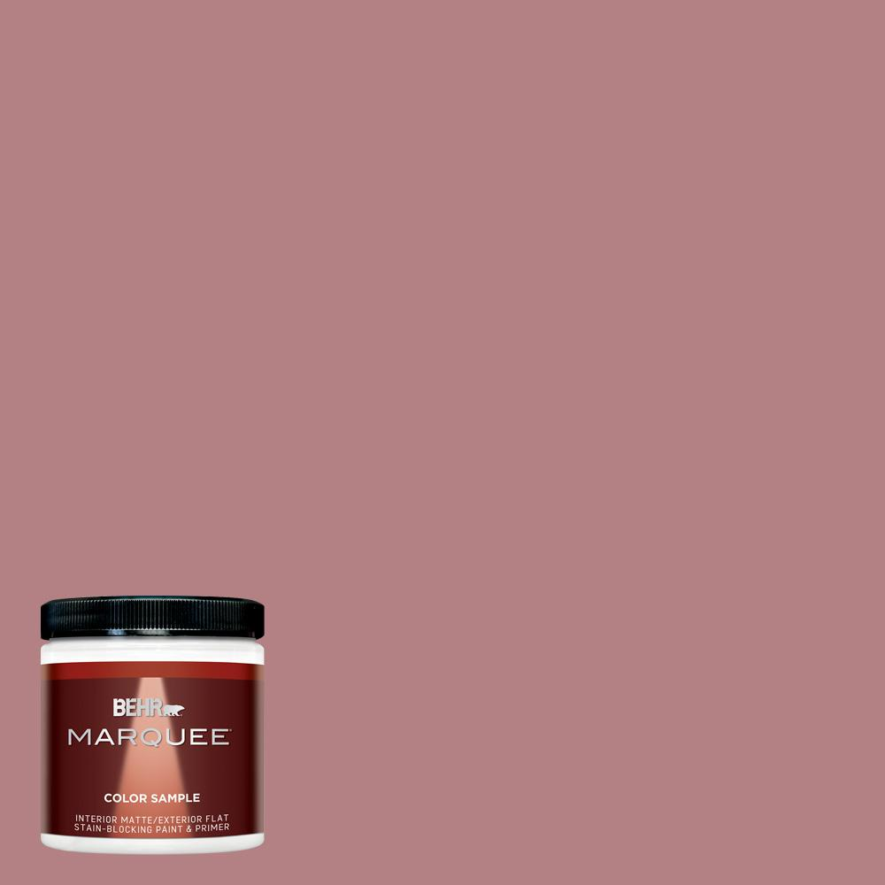 8 oz. #T14-15 Minuet Rose Matte Interior/Exterior Paint Sample