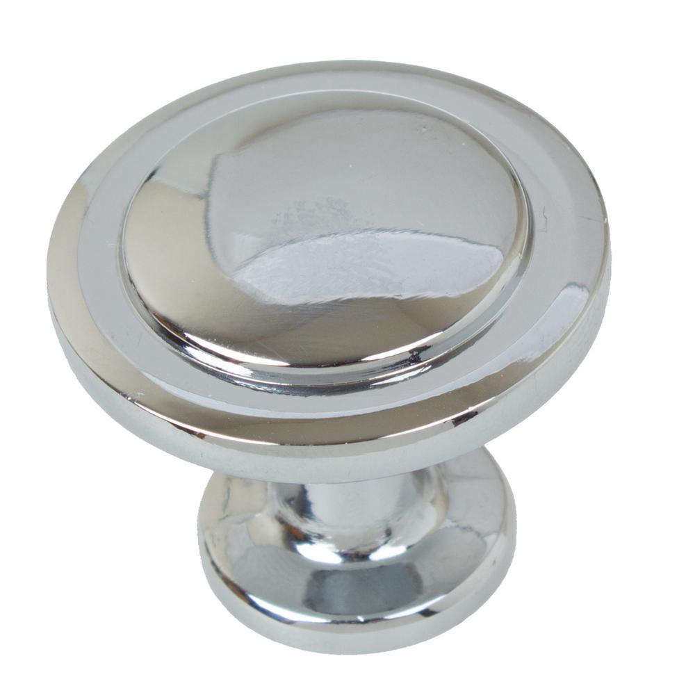 1-1/4 in. Dia Polished Chrome Classic Round Ring Cabinet Knobs (10-Pack)