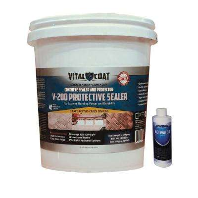 V-200 Protective 46 lb. Water Base Acrylic Epoxy Quick Drying Concrete Masonry and Stone Sealer