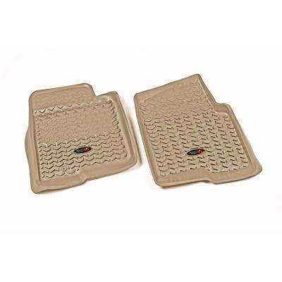 Tan Front Floor Liners 2011-2014 Ford F-150