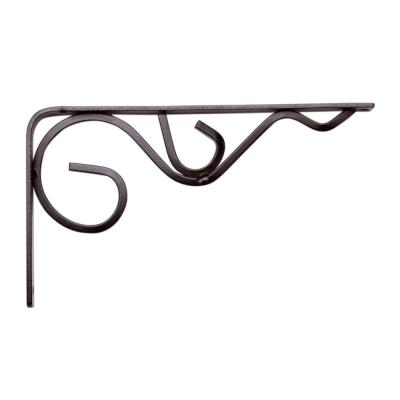 Iron Daisy 4.5 in. x .75 in. Bronze 25 lb. Decorative Shelf Bracket