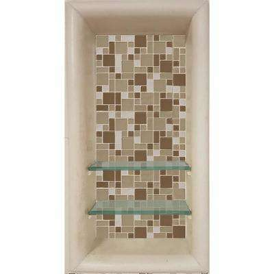 Tuscany 12 in. x 4 in. x 24 in. Shower Niche in Desert Sand