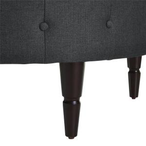 Super Dorel Caryn Charcoal Round Ottoman Fh6993 Ch The Home Depot Ibusinesslaw Wood Chair Design Ideas Ibusinesslaworg