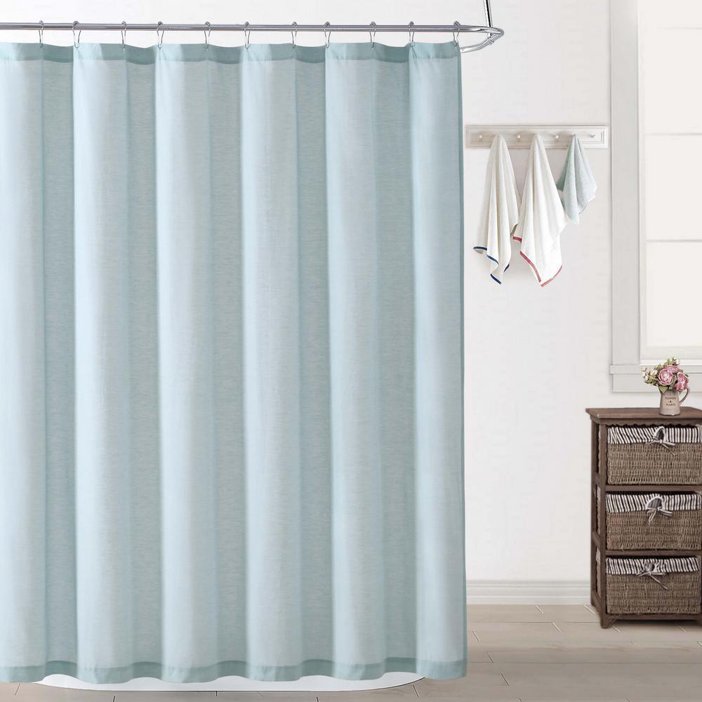 Chambray Coast Aqua Shower Curtain