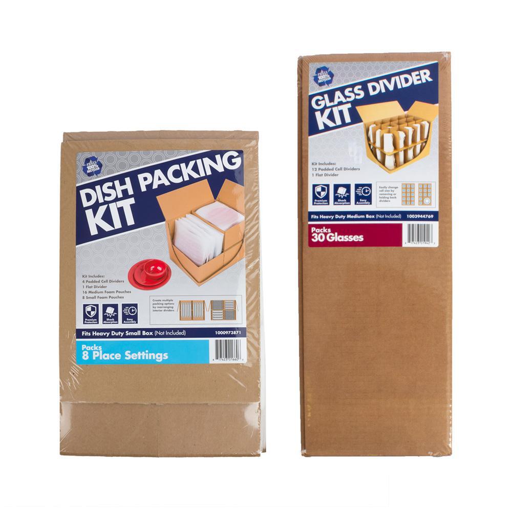 Dish Packing Kit Plus Glass Divider Moving Kit