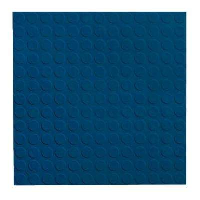 Vantage Circular Profile 19.69 in. x 19.69 in. Deep Navy Rubber Tile