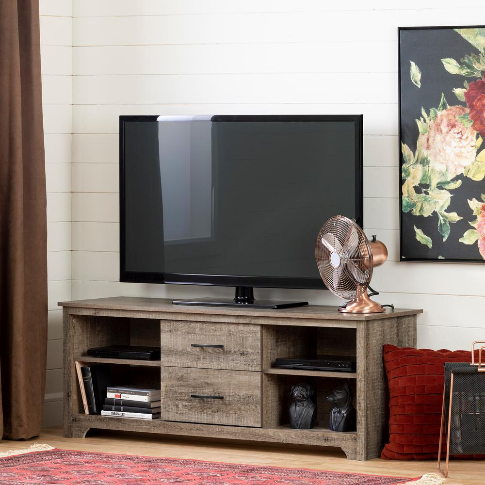 South Shore Fusion Weathered Oak Tv Stand Up To 60 In 11684 The