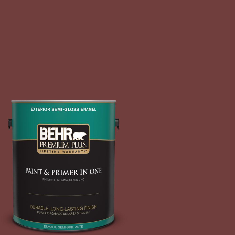1-gal. #ECC-27-1 Red Pines Semi-Gloss Enamel Exterior Paint