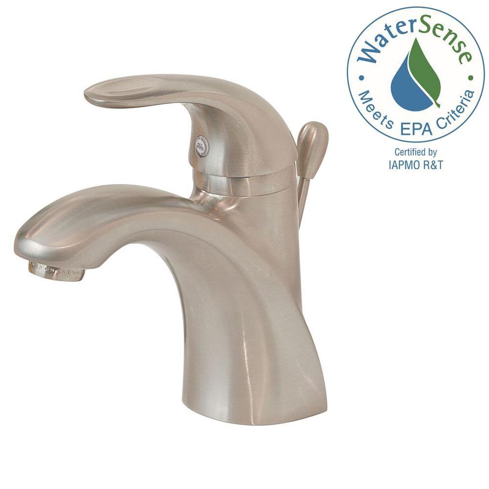 Parisa Single Hole Single-Handle Bathroom Faucet in Brushed Nickel