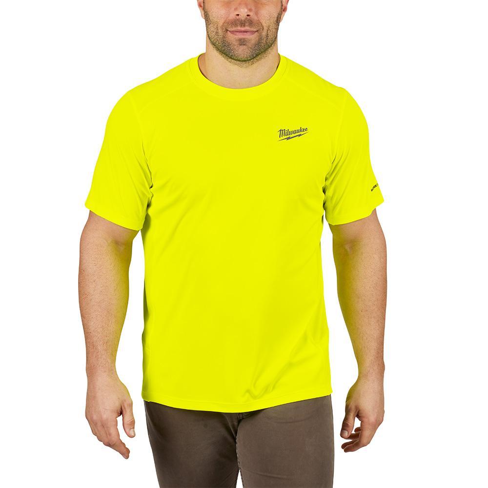 petite Milwaukee Men's Large Hi-Vis GEN II WORKSKIN Light Weight Performance Short-Sleeve T-Shirt, Yellow was $29.97 now $19.97 (33.0% off)