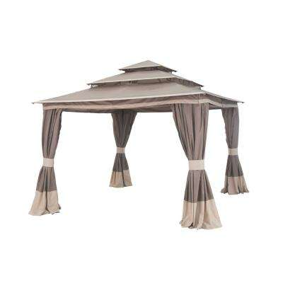 Tierney 12 ft. x 12 ft. Brown Soft Top Gazebo