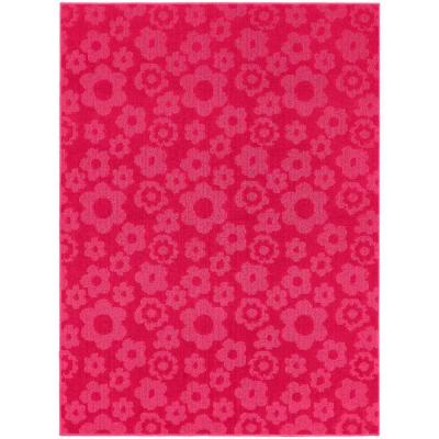 Flowers Pink 8 ft. x 10 ft. Area Rug