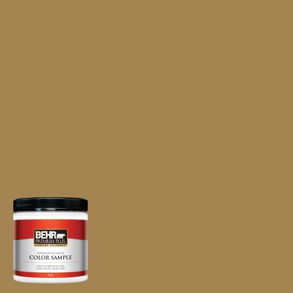 8 oz. #330F-6 Bristle Grass Interior/Exterior Paint Sample