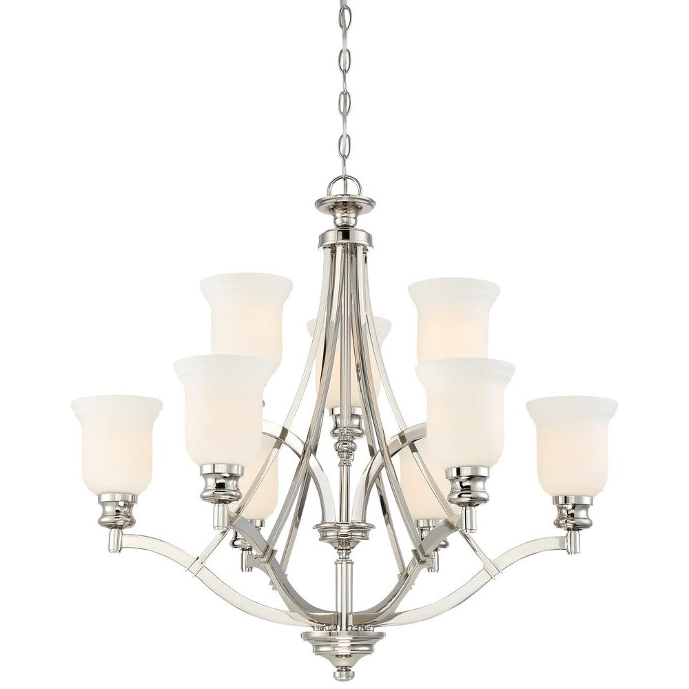 Minka lavery tilbury 6 light polished nickel chandelier 4986 613 audreys point 9 light polished nickel chandelier arubaitofo Choice Image