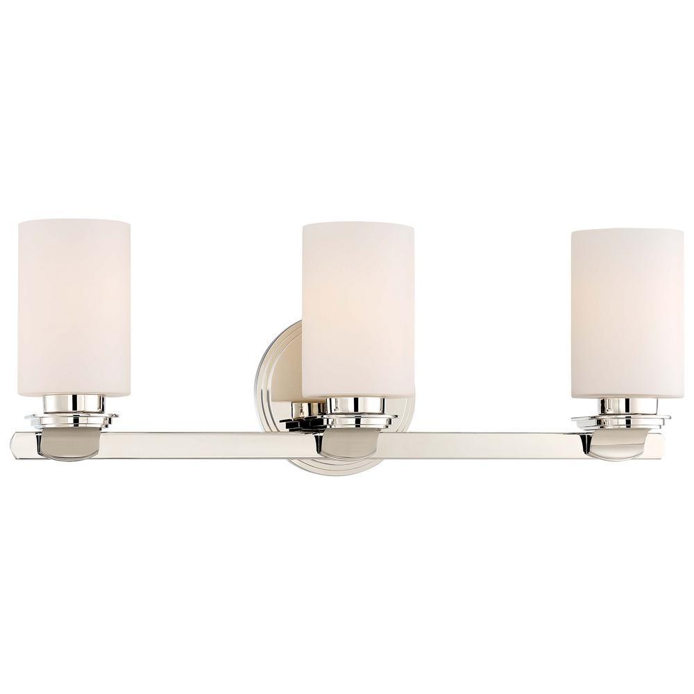 Arrondir 3-Light Polished Nickel Bath Light