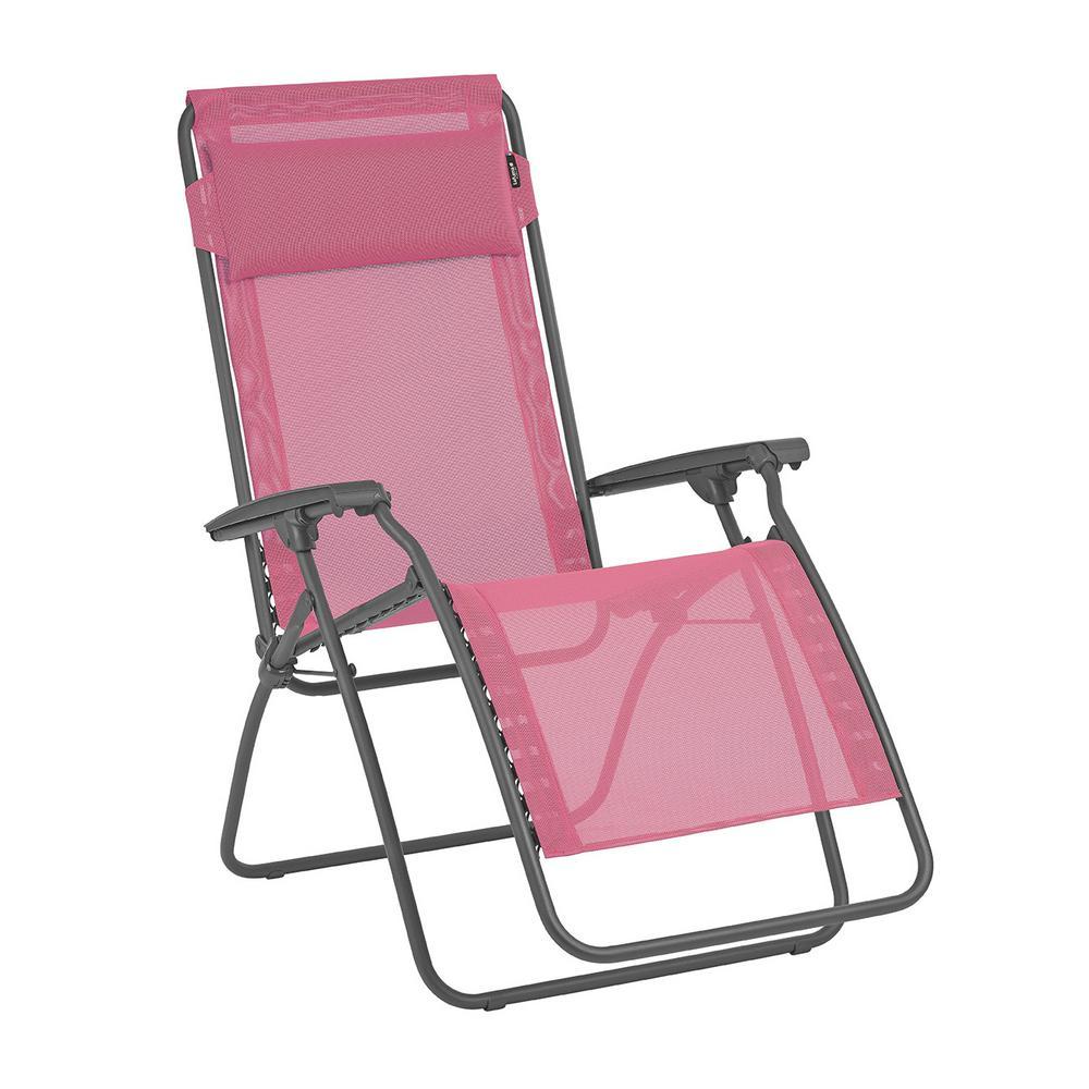 Surprising Pure Garden Zero Gravity Beige Metal Reclining Lawn Chair Machost Co Dining Chair Design Ideas Machostcouk