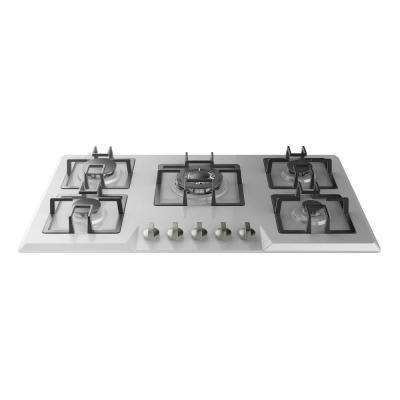 34 in. Gas Stove Cooktop in Stainless Steel with 5 Italy Sabaf Burners