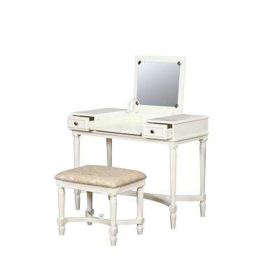 Kylie 2-Piece Vanity Set White