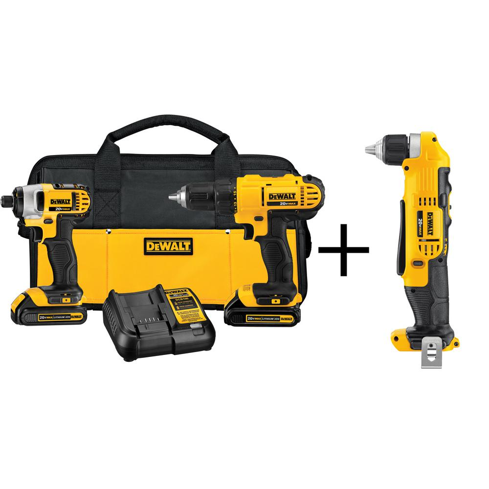 20-Volt MAX Lithium-Ion Cordless Combo Kit (2-Tool) with Bonus 3/8 in.