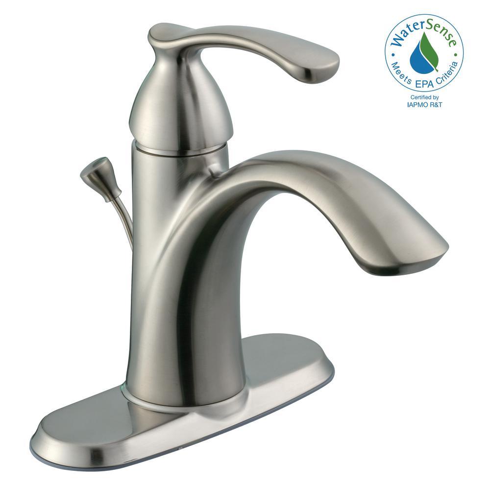 Edgewood Single Hole Single-Handle High-Arc Bathroom Faucet in Brushed Nickel