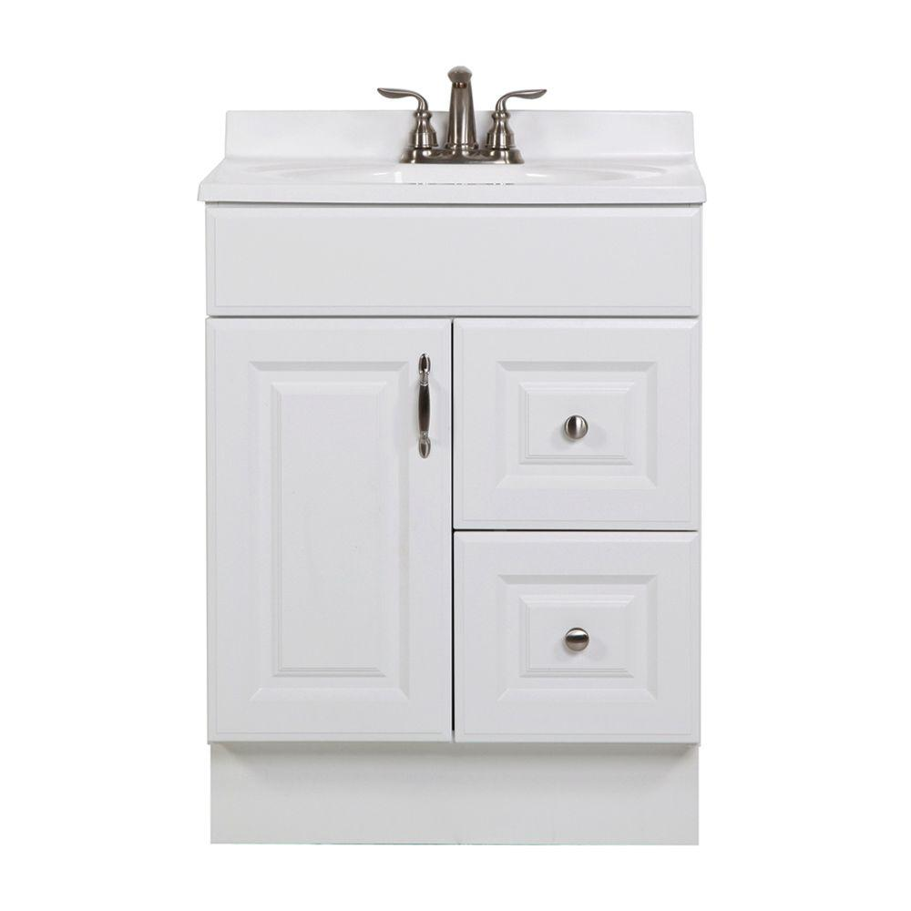St. Paul Arkansas 24 In. Vanity Cabinet Only In White