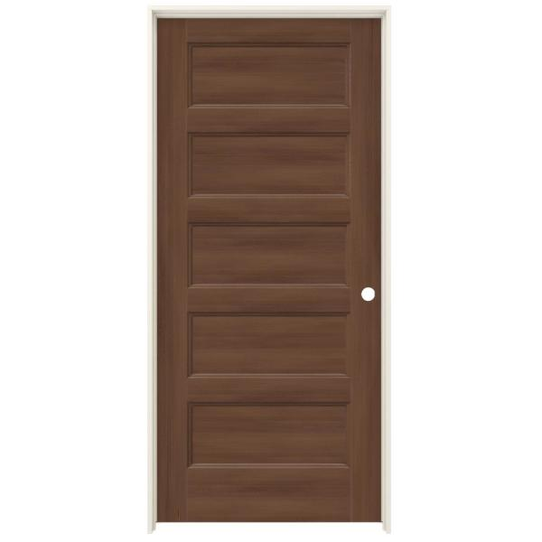 Jeld Wen 36 In X 80 In Conmore Milk Chocolate Stain Smooth Solid Core Molded Composite Single Prehung Interior Door Thdjw236700207 The Home Depot