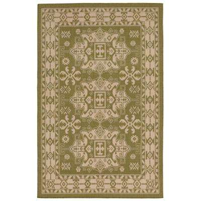 Baxter Traditions Green 8 Ft X 10 Indoor Outdoor Area Rug