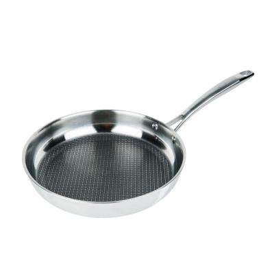 11 in. 3-Ply Stainless Steel Premium Non-Stick Scratch Resistant Fry Pan
