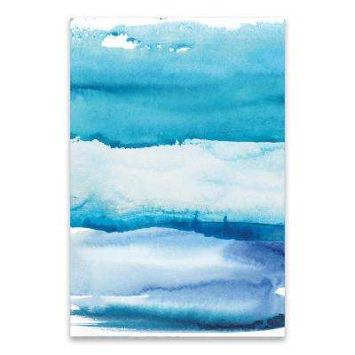 """Blue Sky""  by Nikki Chu Hand Embellished Canvas Wall Art"