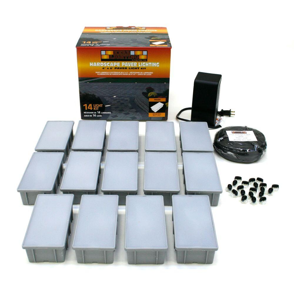 Kerr Lighting 14 Light Outdoor Paver Light Kit