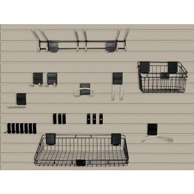Handiwall 4 ft. x 8 ft. Slat Wall Starter Kit in Taupe