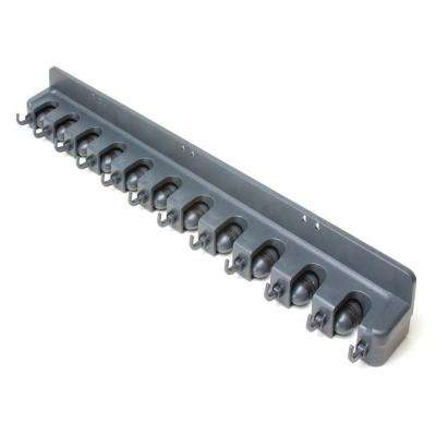 36 in. 12-Compartment Wall Mounted Tool Small Parts Organizer