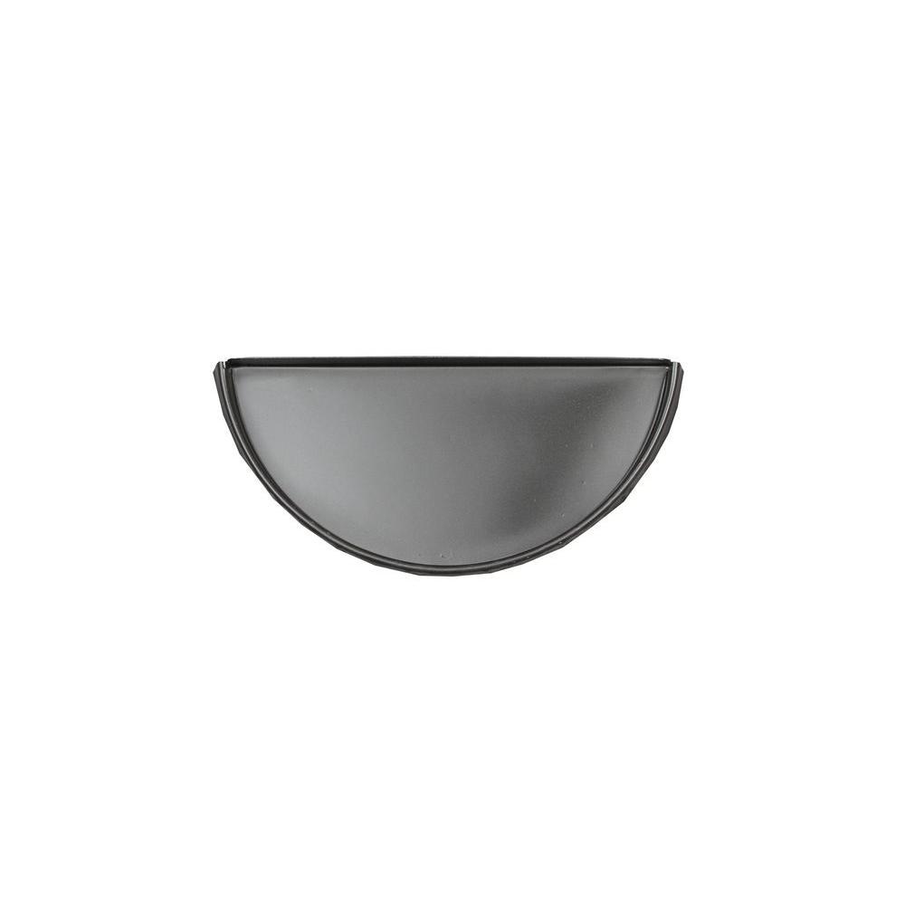 Spectra Metals 6 in. Half Round Bronze Aluminum Gutter End Cap