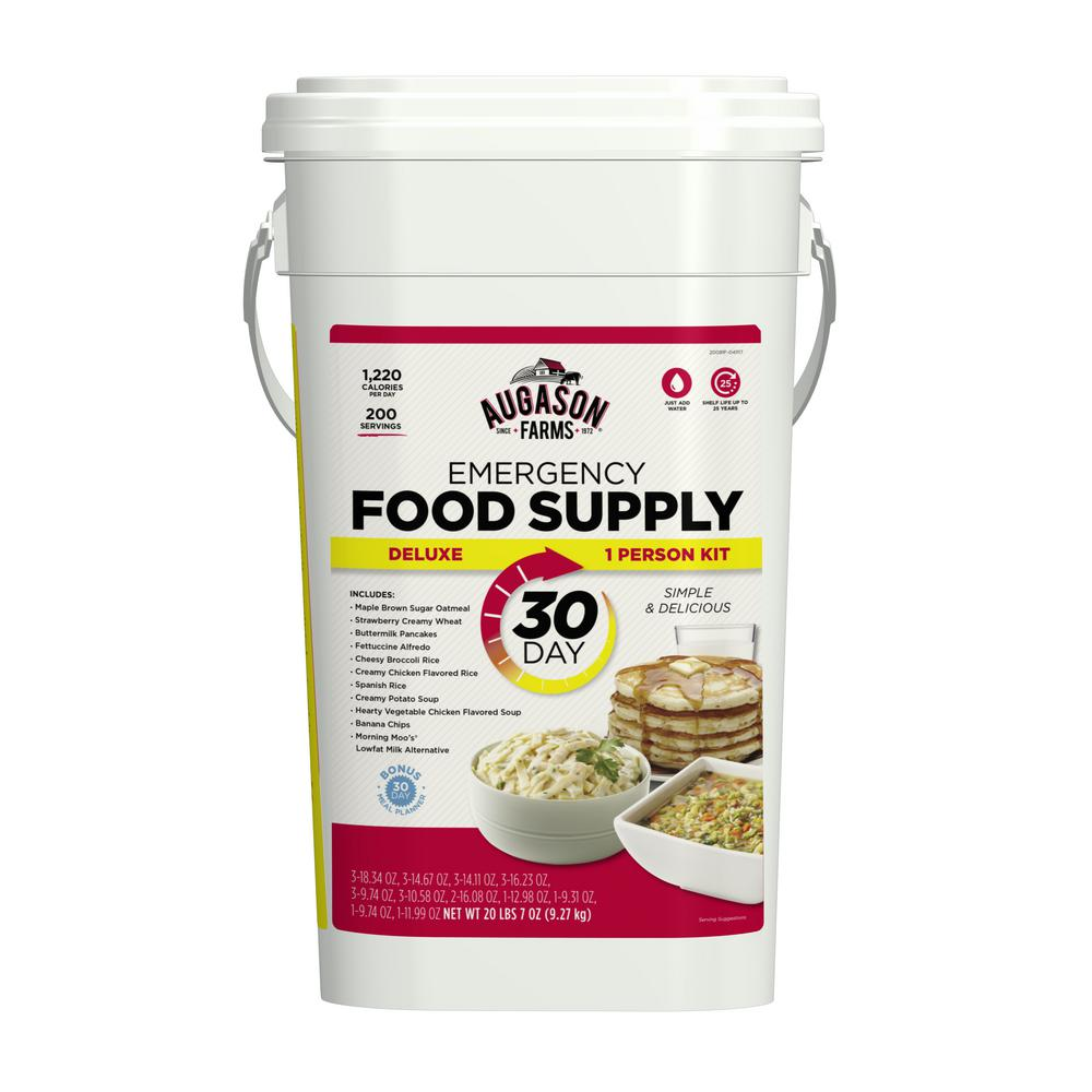Augason Farms 30-Day 1-Person Emergency Food Supply Evacuation Pail 11 Varieties 25-Year Shelf Life