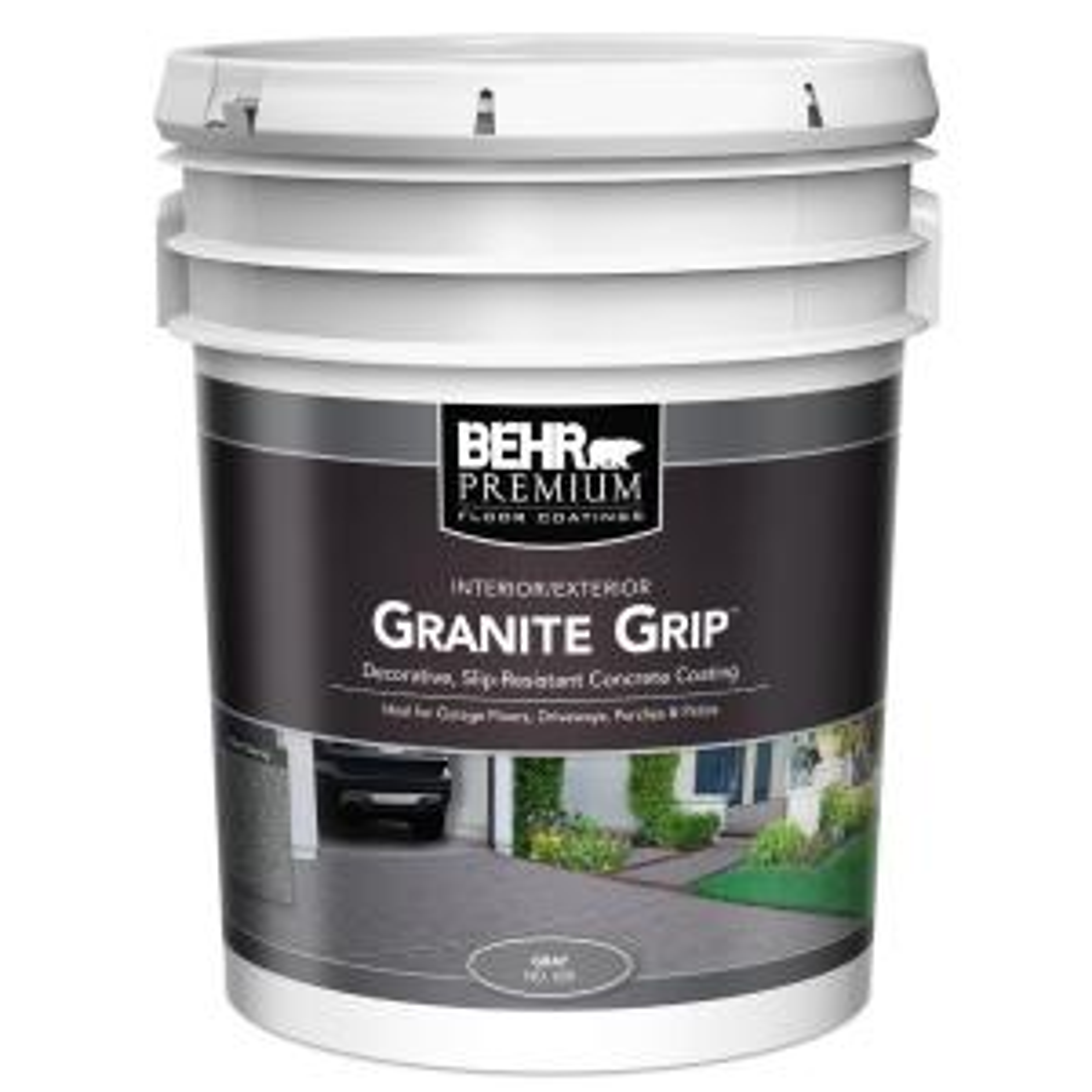 BEHR 5 gal. Gray Granite Grip Interior/Exterior Concrete Paint by BEHR