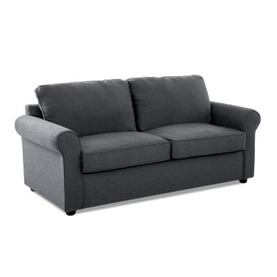 Andrea 76 in. Midnight Fabric 2-Seater Full Sleeper Sofa Bed with Round Arms