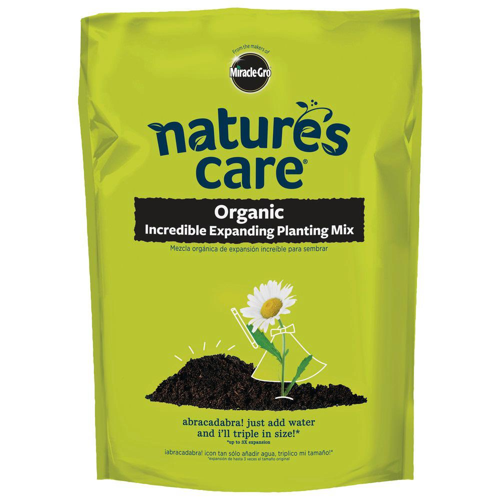 Miracle gro natures care organic incredible expanding - Home depot miracle gro garden soil ...