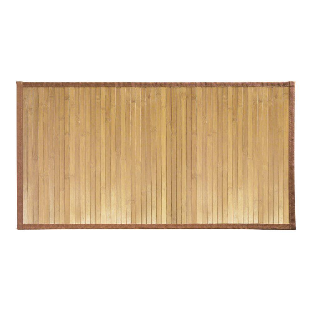 Interdesign Formbu 34 In X 21 Medium Bath Mat Bamboo