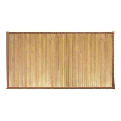 Formbu 34 in. x 21 in. Medium Bath Mat in Bamboo