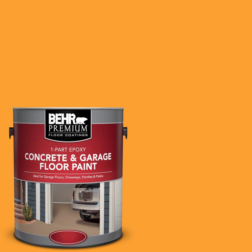 1 gal. #P250-7 Blazing Bonfire 1-Part Epoxy Satin Interior/Exterior Concrete and Garage Floor Paint