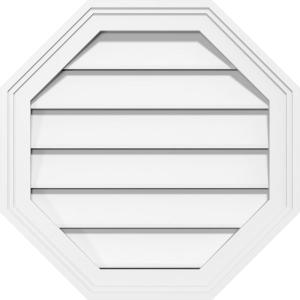 Builders Edge 32 In X 32 In Octagon Beige Bisque Plastic Built In Screen Gable Louver Vent 120013232020 The Home Depot