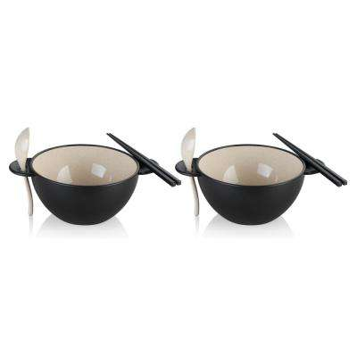 Earth Ramen Beige Bowl 6-Piece Set